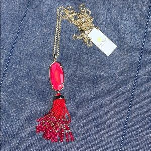 NWT Kendra Scott Eva Red MOP Tassel Necklace